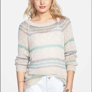 BP Striped Knit Sweater Top